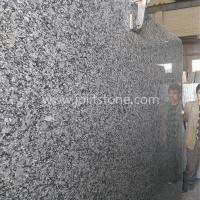 G002 G418 Wavy Spray White Granite Big Slabs