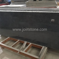 G011 G654 Impala Black Granite Sawn Cut Random Edge Slabs For Vanitytops