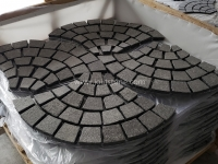 G684 Black Granite Meshed Paving Stone Crate Packing