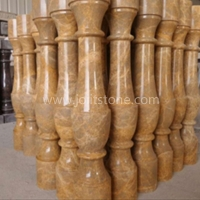 Imperial Gold Marble Pillar For Hotel Hall Stairs