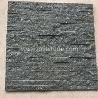 JSCS1560-17 Eco-Friendly Black Galaxy Culture Stone Wall Panel Slate Interior Wall Cladding