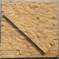 JSCS1560-32 Rectangle Shape Yellow Sandstone Exterior Natural Stone Veneer