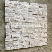 JSCS1560-33 Fireplace Surround Decorative White Sandstone Stack Stone Veneer