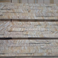 JSCS1560-34 Natural Yellow Sandstone Stacked Stone For Outside Wall