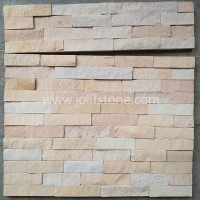 JSCS1560-35 Pink Sandstone Stack Stone Veneer Panels Wall Claddings