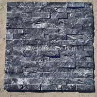 JSCS1560-41 Decorative Stone Wall Panels Natural Black Marquina Marble Stacked Stone Veneer