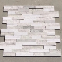 JSCS1560-44Z China Manufacturer White Wooden Grain Cultural Stone For Wall Cladding 1