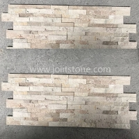 JSCS1560-51Z China Natural Split Face Beige Travertine Fieldstone Veneers
