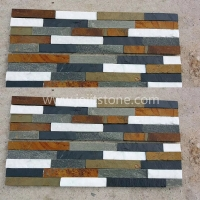 JSCS1560-75 Multicolor Slate 150x600 Culture Stone Veneer Panels