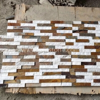 JSCS1560-77 Multi Color Decorative Stone Veneer Wall Panels
