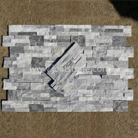 JSCS1835-05 Cloudy Grey Stone Panel Wall Stone Quartzite Ledgestone Veneer