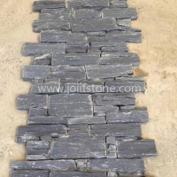 JSCS2060-01 Natural Culture Cement Black Slate Stone Veneer Wall Panel For Exterior Walls