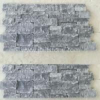 JSCS2060-05 High Quality Black Limestone Stacked Natural Stone Tiles