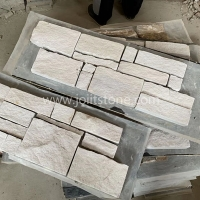 JSCS2060-17 Hot Sale White Sandstone Stacked Stone
