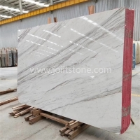M002 Volakas White Marble Big Slab With Black Veins