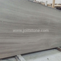 M004 Light Grey Wood Marble Big Slab For Living Room Design