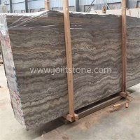 M012 Wholesale Fireplace Surround Iran Grey Silver Travertine Slabs Price