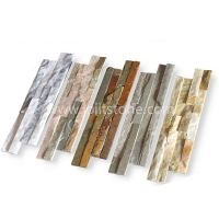 Multi Color Thin Stone Veneer Panel Stone Tile For Wall Cladding