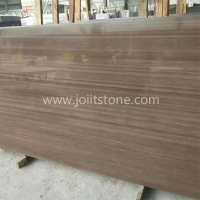 P001 Natural Coffee Brown Purple Wenge Sandstone Slabs For Wall Cladding