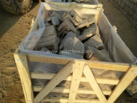 Tiger Skin Granite Loose Stone Corner Crate Packing