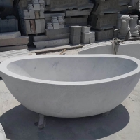BT001 Natural White Stone Bathtub