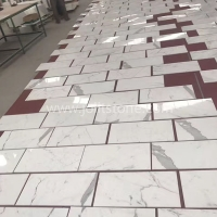 MT003 Calacatta Marble Flooring And Wall Tiles