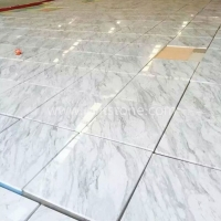MT017 Volakas White Marble Polished Flooring And Wall Tile