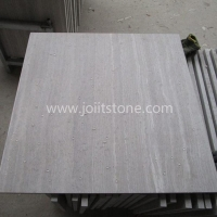 MT018 White Wooden Marble Honed Tiles With Water Proof