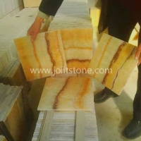 OT001 Chinese Yellow Honey Onyx Tile With Transparency Effect