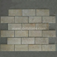TT004 Beige Travertine Thin Tile For Wall Decoration