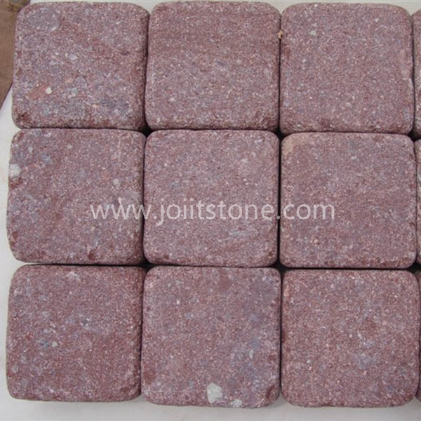 CS029 Flamed Tumble Red Porphyry Paving Stones