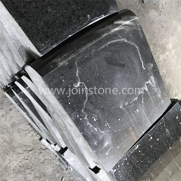 KS011 Polished Natural Granite Curved Kerb Landscape Stone