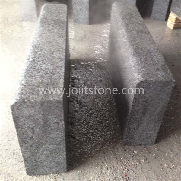KS014 Wholesale Natural Black Granite Kerbstone For Road