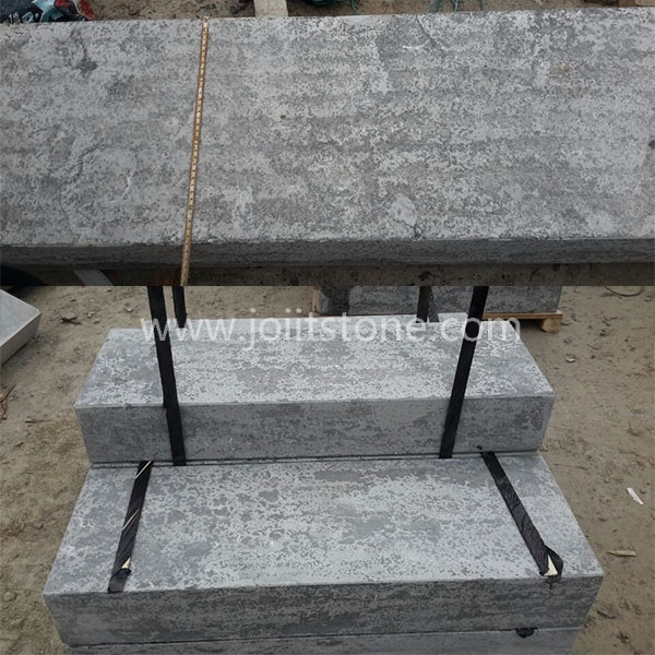 KS015 Natural Grey Flamed Limestone Border Kerbs Stone