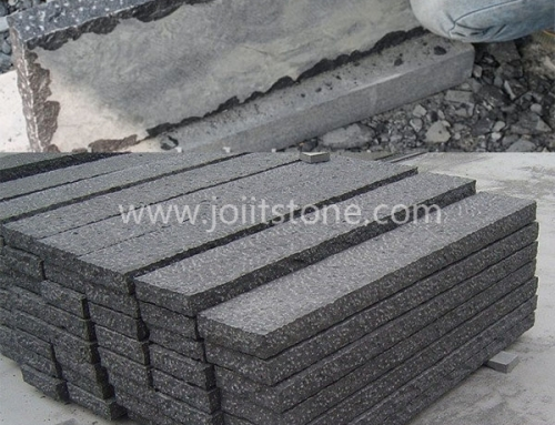 KS019 High Quality Pineappled Finish Granite Kerb Stone Size Curbing For Road
