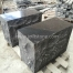 KS020 Black Basalt Polished Surface Kerb Stone For Garden