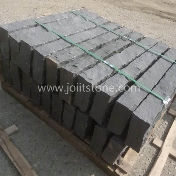KS021 Chinese Black Basalt Kerb Stones Prices All 6 Sides Split