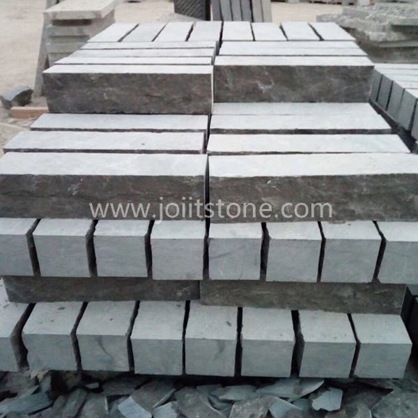 KS024 Wholesale Good Price Split Surface Blue Limestone Kerbstone