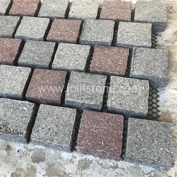 MS041 Red Grey Mixed Granite Paving Stone for Outdoor