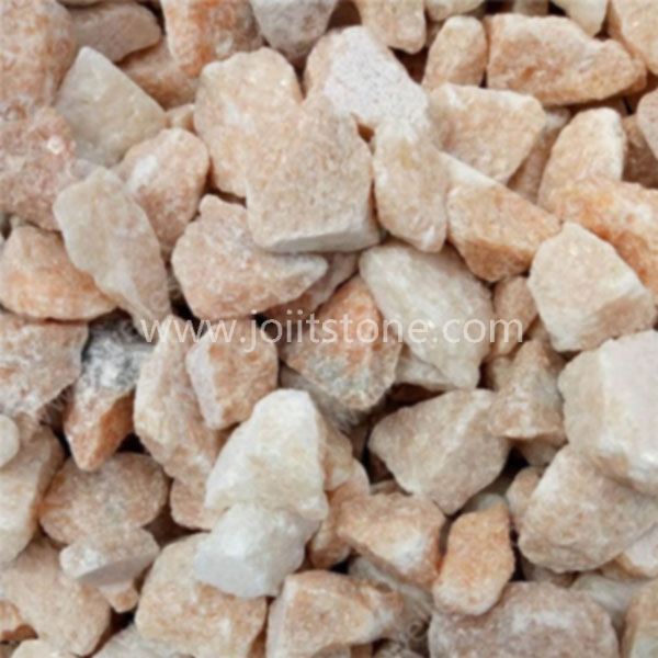 PS010 Good Price Pink Color Crushed Stone