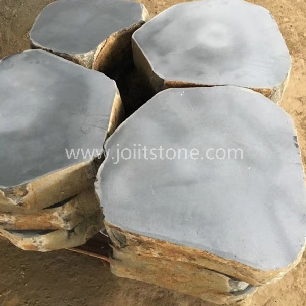 SS001 Good Price Garden Natural Grey Basalt Stepping Stones