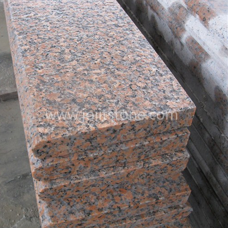 TR007 Flamed Surface G562 Maple Red Granite Bullnose Steps