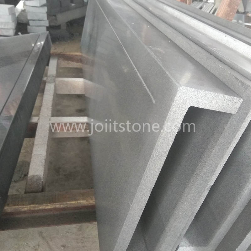 TR005 Black Basalt Full Body L Shape Steps For Outdoor Entrance