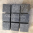 ZP Black Basalt, cobblestone, 10x10x10cm, flamed on surface, other sides sawn cut