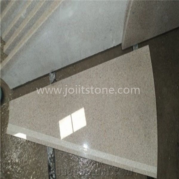 TR011 Customized G681 Pink Granite Arc Shape Steps