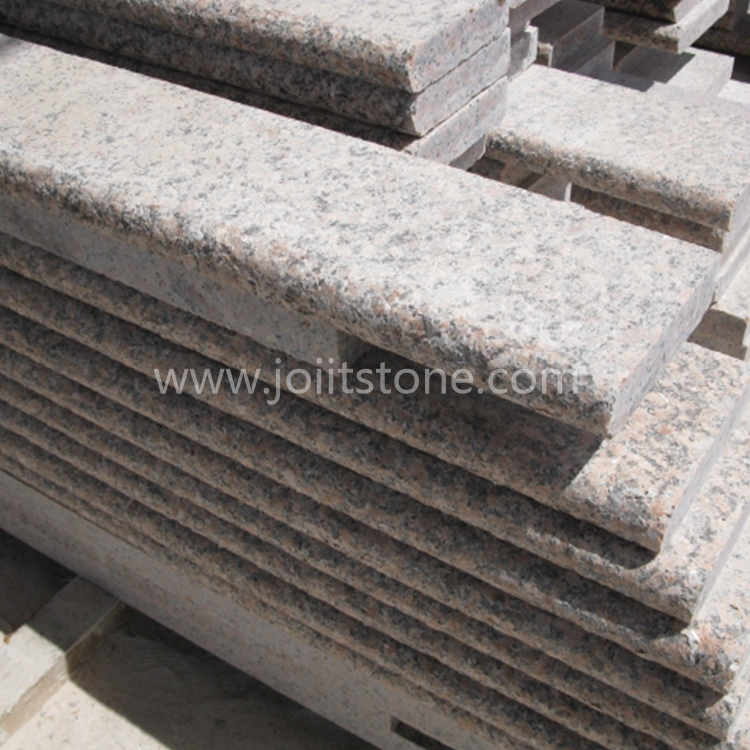 TR017 Flamed G562 Maple Red Granite Stair ( One Long Side and One Short Side Bullnose)