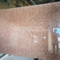 G005 China Maple Red Granite Big Slab For Stairs and Risers