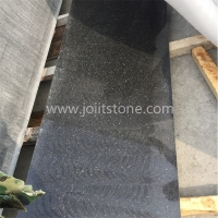 G013 Polished Diamond Black Granite Sawn Cut Edge Small Slabs With Competitive Price