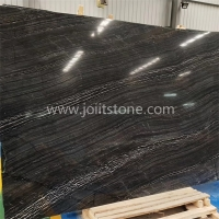 M013 Polished Ancient Black Tree Wooden Marble Slabs For Table