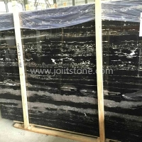 M014 Silver Dragon Black With Grey Veins Marble Big Slabs For Tops